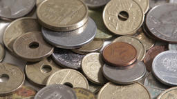 Money Coins Rotaring Footage