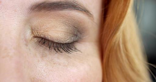 Woman's Brown Eyes Footage