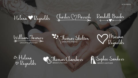 Wedding Lower Thirds After Effects Template