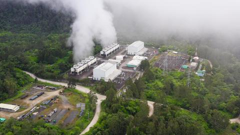 Geothermal power station. Philippines, Mindanao. Apo mountain 실사 촬영