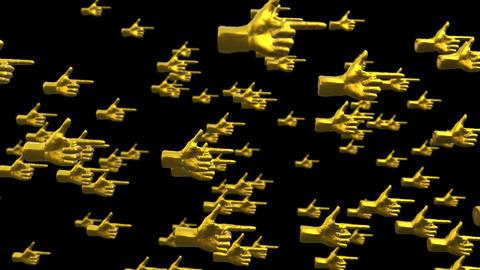 3D CG hand right hand loop animation Animation