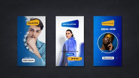 Creative Fashion Promo Story After Effects Template