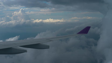Aerial view from descending airplane 실사 촬영