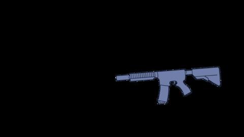 Machine Gun Strike Attack Shooting Object Animation