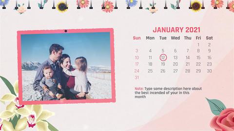 Calendar Slideshow After Effects Template