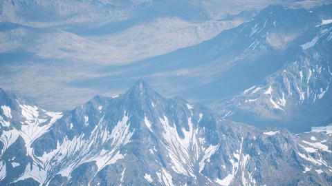 Aerial View Landscape of Mountais with Snow covered GIF