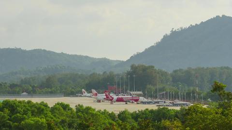 Phuket international airport, timelapse GIF