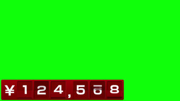 反転フラップ式値段表(6桁) 赤 After Effectsテンプレート