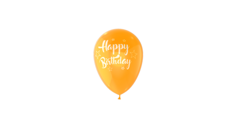Happy Birthday Balloon Loop Animation With Quicktime Alpha Channel Animation
