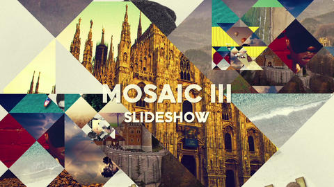 Mosaic 3 Slideshow After Effects Template