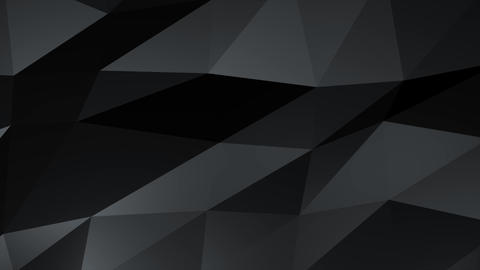 Abstract triangles Black and gray colors, Flying Live Action