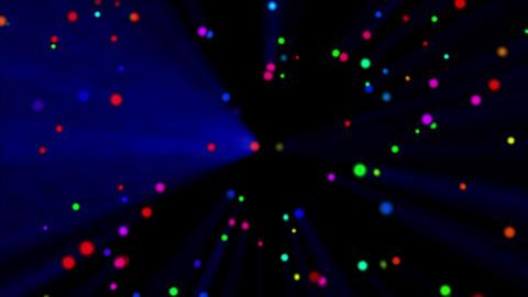 Colorful dot rotation light blue CG動画