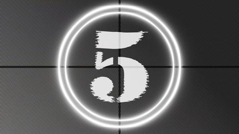 Countdown 9 to 0 Black White Orange Animation