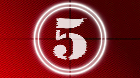 Countdown 9 to 0 Red Animation