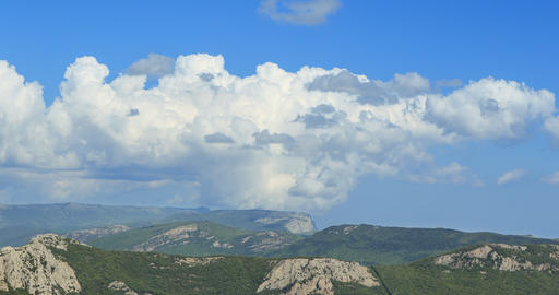 South Crimea. The mountains. Zoom. TimeLapse Footage