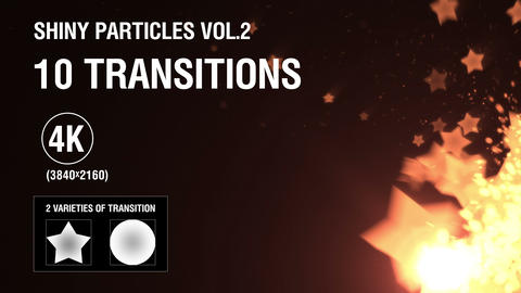 10-in-1 (4K) Shiny Particles Transition vol.2 - gold Animation