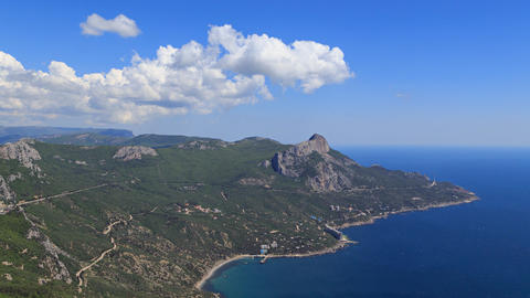 South Crimea, Laspi Bay. Zoom. TimeLapse Footage