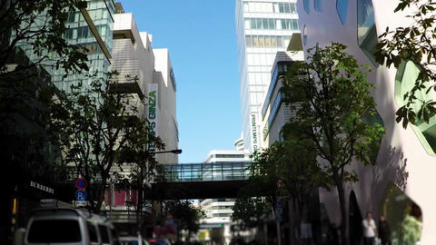 Tokyo city scenery. A shopping spot around Ginza Around the window Footage