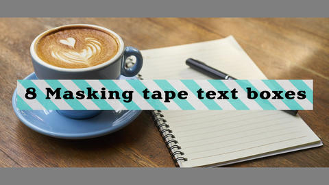 8 Masking tape text boxes Motion Graphics Template