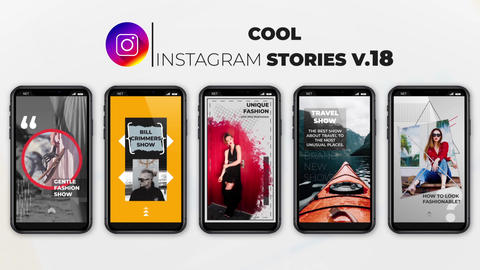 Cool Instagram Stories v 18 After Effects Template