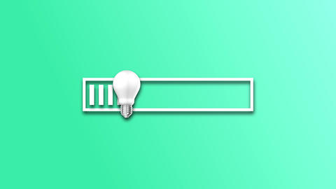 light bar bulb idea bar loading bar light power progress bulb idea progress loading progress light Animation