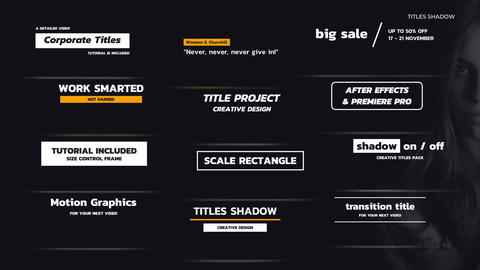 Titles Shadow After Effects Template