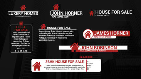 Real Estate Lower Thirds Motion Graphics Template