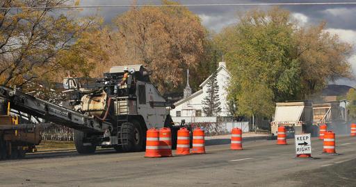 Highway road construction industrial equipment DCI 4K 789 Footage
