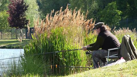 Fishing man Footage