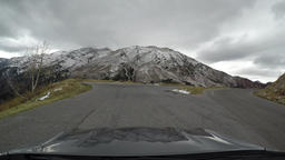 Mnt Nebo snow covered mountain Utah drive POV 4K 980 Footage
