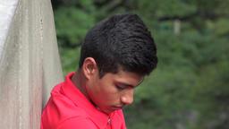 Troubled Hopeless And Ashamed Male Hispanic Teen Footage