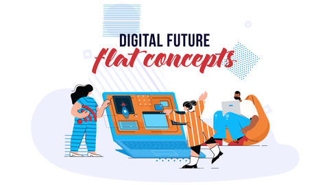 Digital Future - Flat Concept After Effects Template