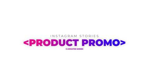 Stories Product Promo Apple Motion Template