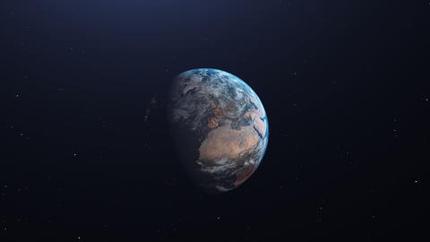 Earth animation with zoom in Animation