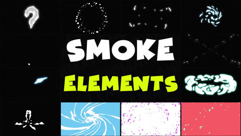 Smoke Elements Pack 06 After Effects Template