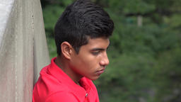 Sadness Depression And Loneliness Among Male Teens Stock Video Footage