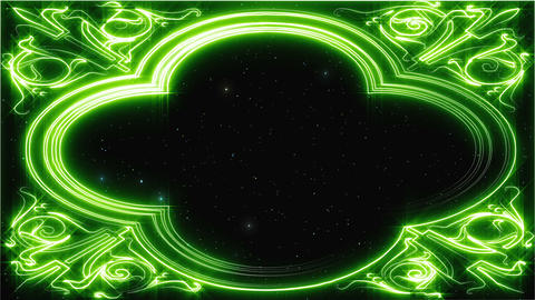 [Loop]Green line art background material Animation
