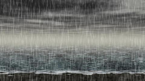 Rainy sea landscape generated seamless loop video Animation
