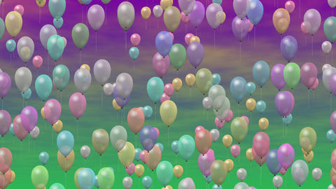 Party balloons generated seamless loop video GIF