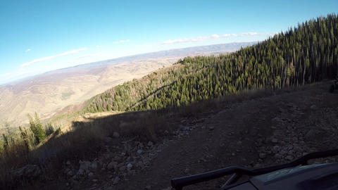 Recreation ride steep mountain trail ATV POV HD 937 Footage