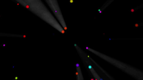 Colorful dot rotating light white, CG動画素材