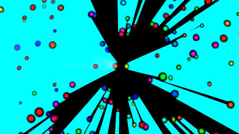 Colorful dot rotation light Green background Transmission CG動画