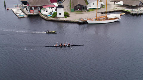Rowing team crew boat house row in mystic connecticut Live Action