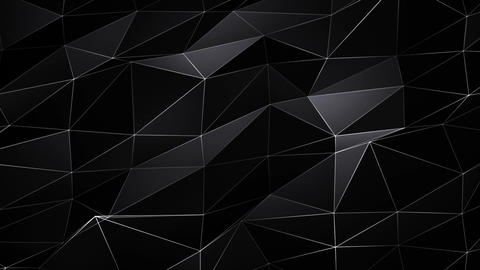 4K Abstract Polygonal Pattern of Triangles Loop Live Action