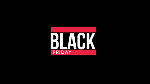Animation intro text Black Friday on black fashion and minimalism background with geometric shape Animation