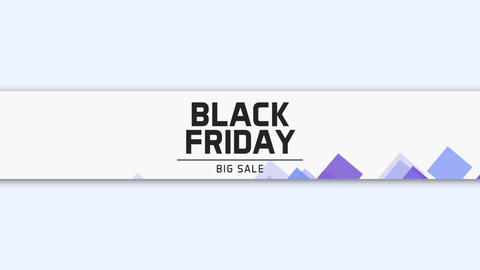Animation intro text Black Friday on white fashion and minimalism background with geometric shape Animation