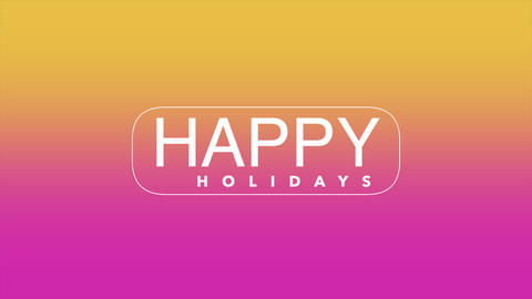 Animation intro text Happy Holidays on gradient fashion and minimalism background Animation