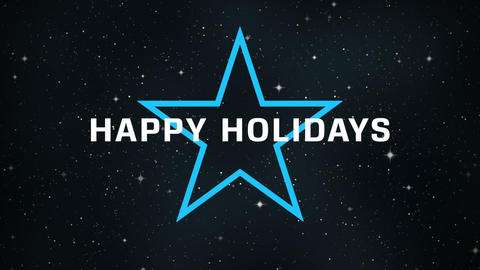Animation intro text Happy Holidays on fashion and minimalism background with stars Animation