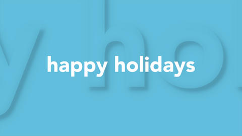 Animation intro text Happy Holidays on blue fashion and minimalism background Animation