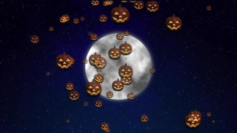 Halloween moon pumpkin CG animation Animation